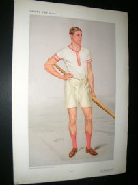Vanity Fair Print 1908 Raymond Etherington-Smith, Rower
